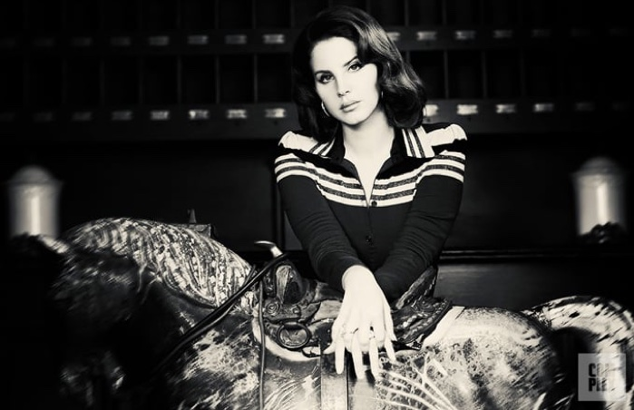 Lana Del Rey poses in Bottega Veneta top