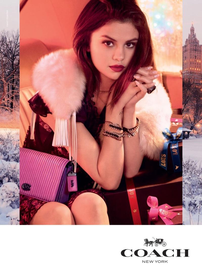 Selena Gomez stars in Coach's Holiday 2017 campaign