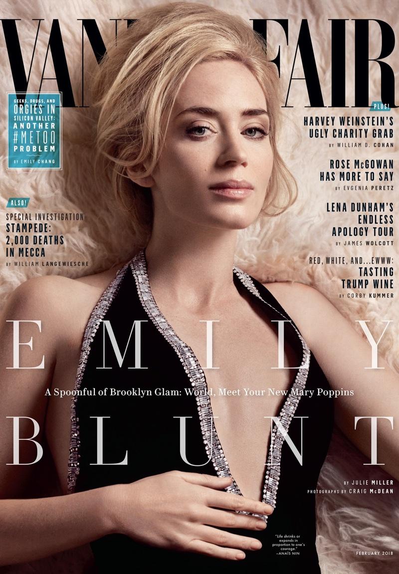 Emily Blunt on Vanity Fair February 2018 Cover