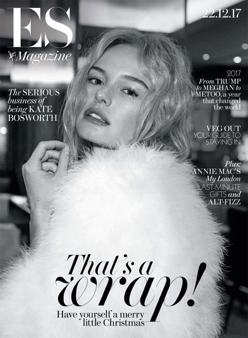 Kate Bosworth on Evening Standard Magazine December 22nd, 2017 Cover