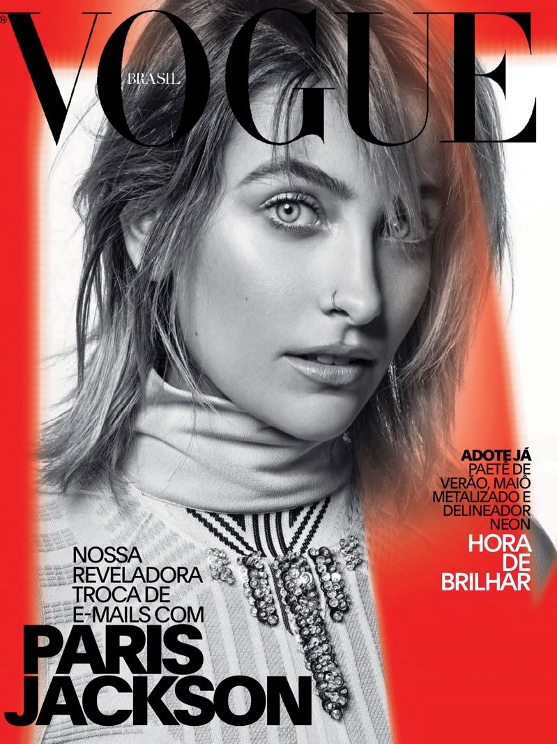 Paris Jackson on Vogue Brazil January 2018 Cover