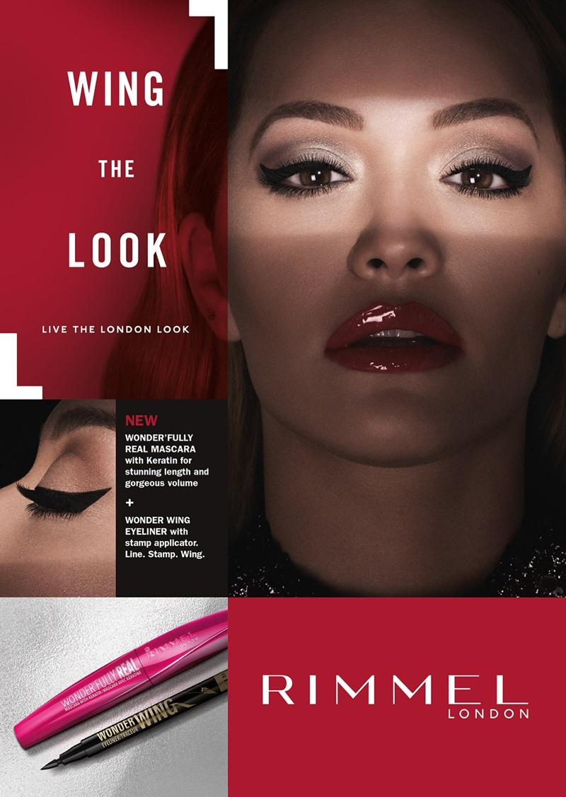 Singer Rita Ora wears red lipstick in new Rimmel London campaign
