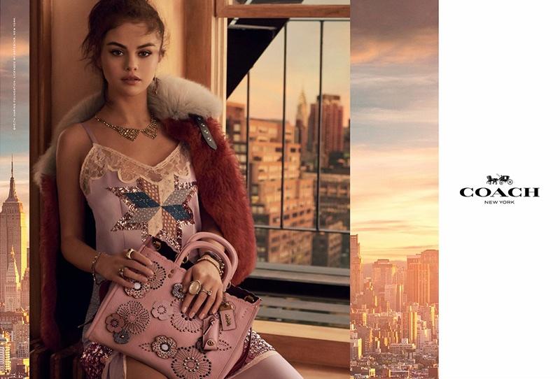 Coach taps Selena Gomez for its spring-summer 2018 handbag campaign