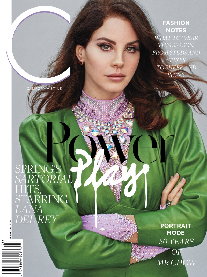 Lana Del Rey on C Magazine March 2018 Cover
