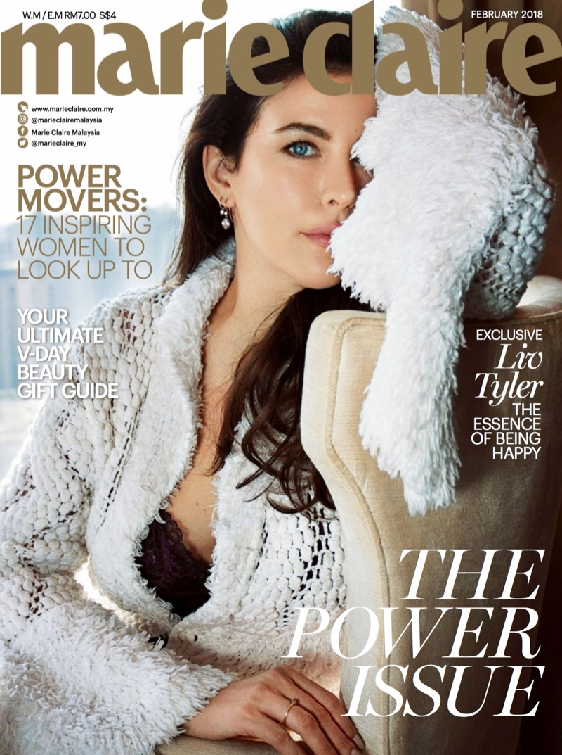 Liv Tyler on Marie Claire Malaysia February 2018 Cover