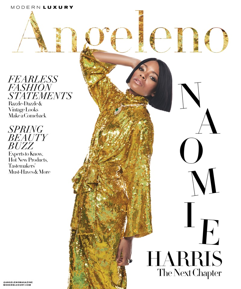 Actress Naomie Harris for Angeleno March 2018 Cover