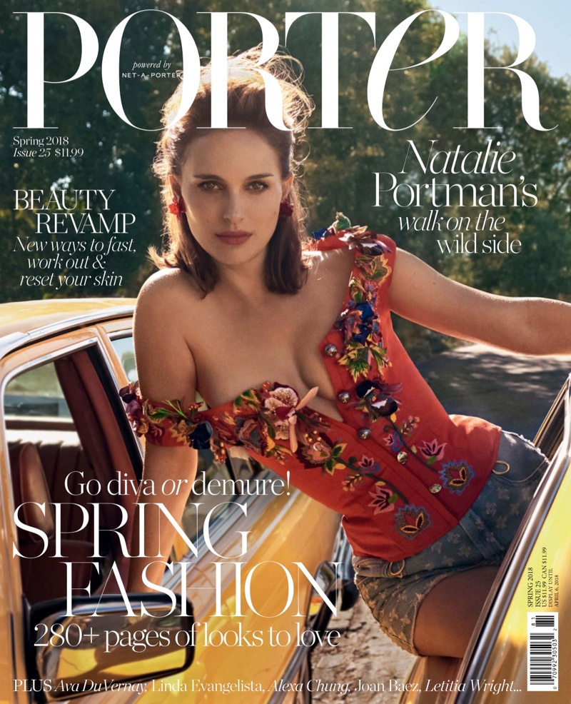 Natalie Portman on PORTER Magazine Spring 2018 Cover
