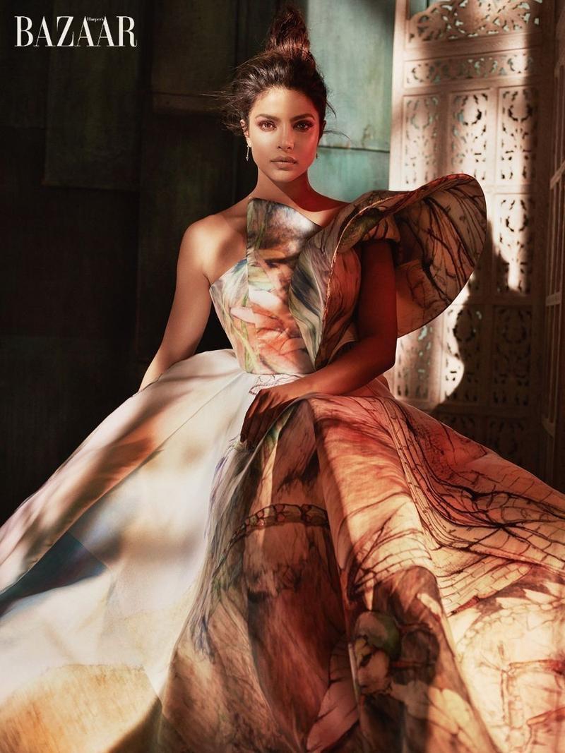 Priyanka Chopra poses in a sculptural gown