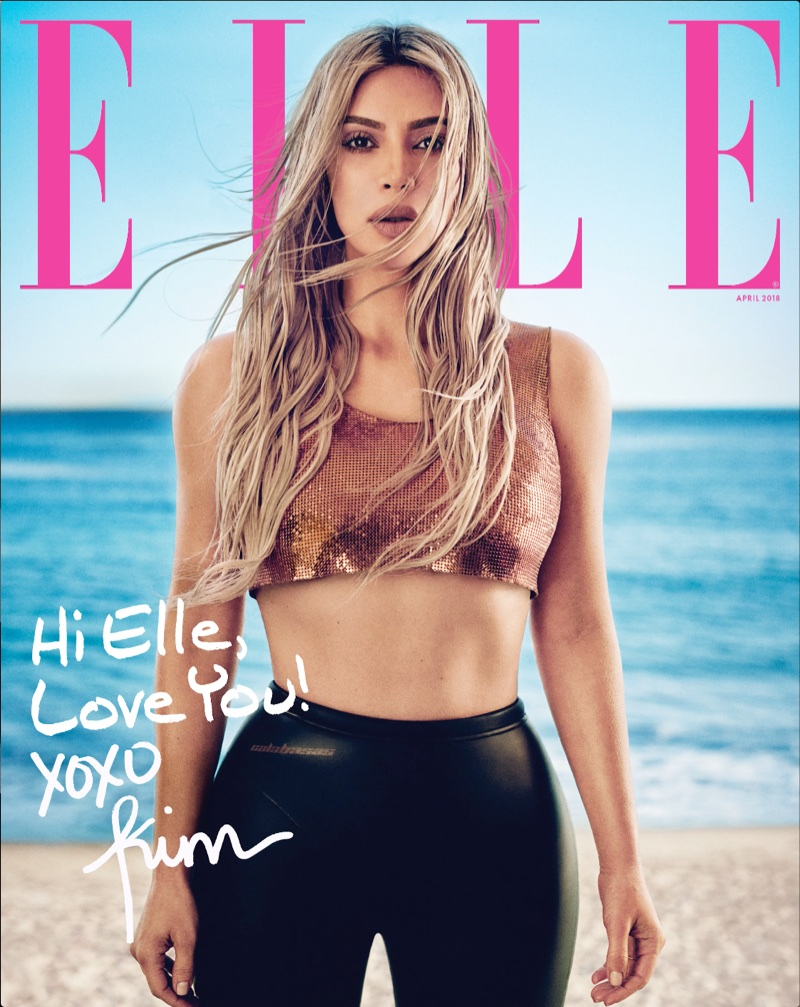 Kim Kardashian on ELLE April 2018 Cover