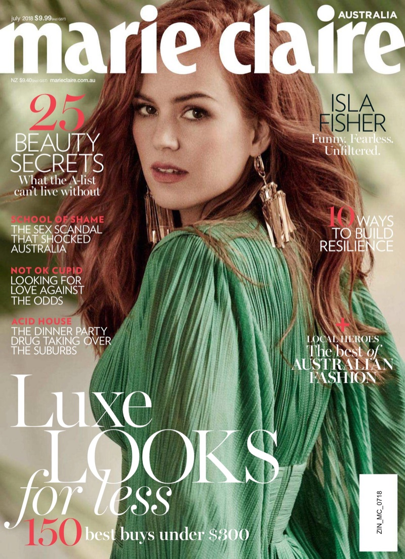Isla Fisher Gets Glam for Marie Claire Australia