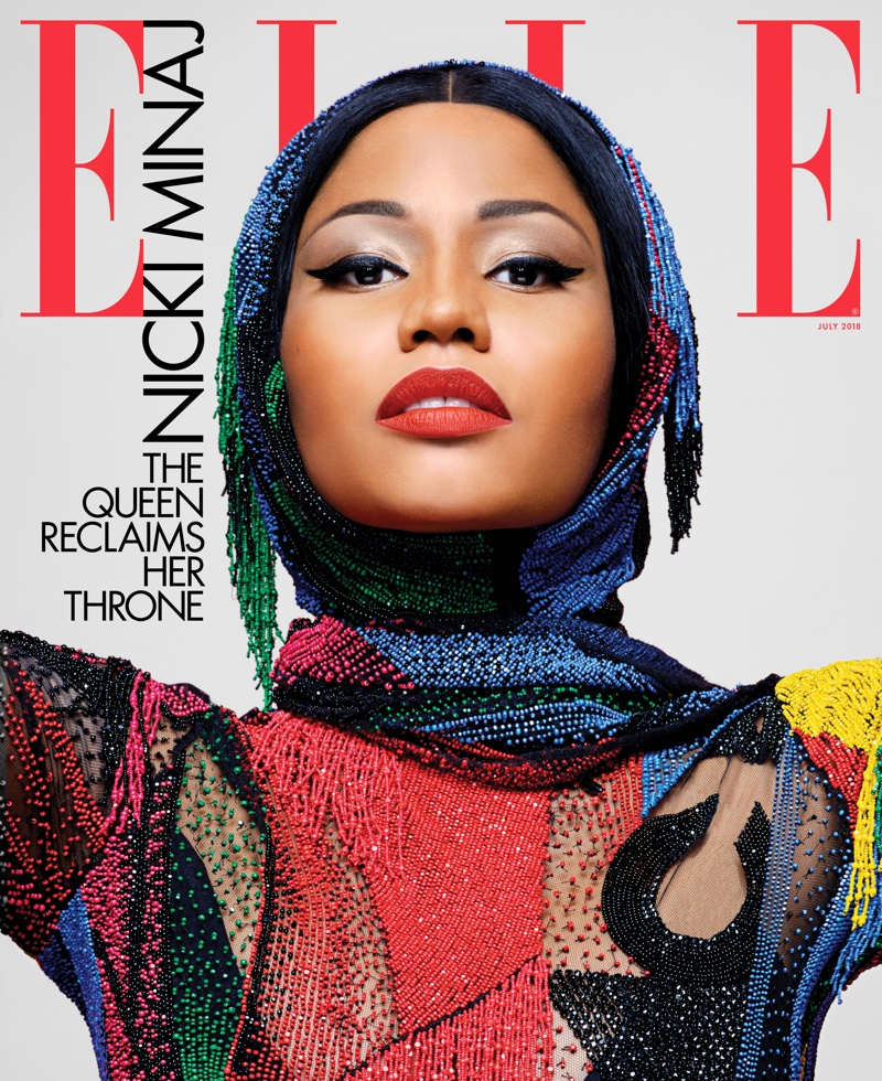 Nicki Minaj on ELLE US July 2018 Cover