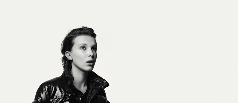 Actress Millie Bobby Brown in Moncler BEYOND campaign
