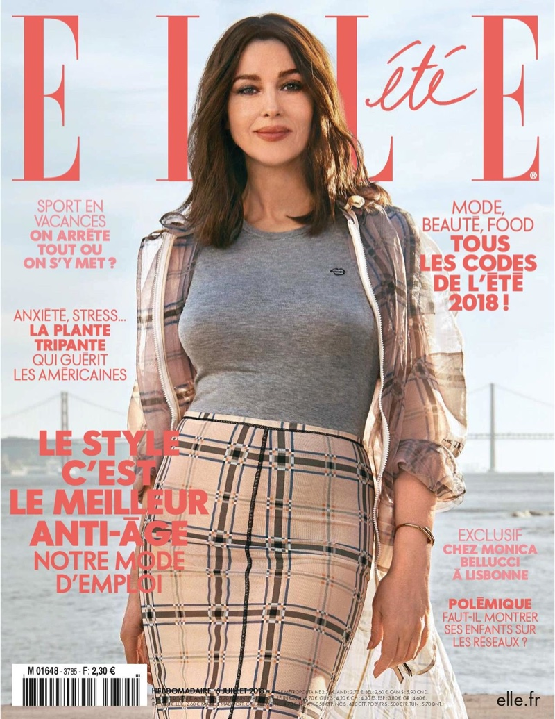 Monica Bellucci on ELLE France July 6, 2018 Cover