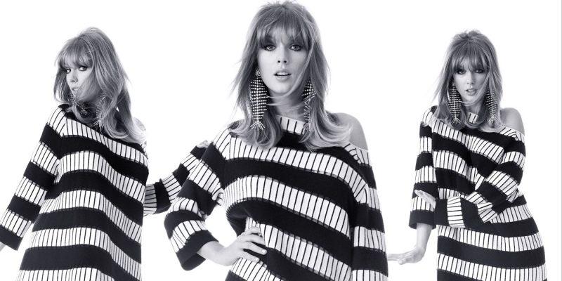 Taylor Swift wears Akris dress and Saint Laurent earrings