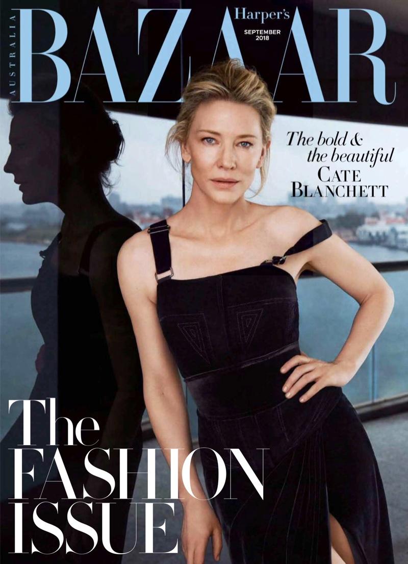 Cate Blanchett on Harper's Bazaar Australia September 2018 Cover