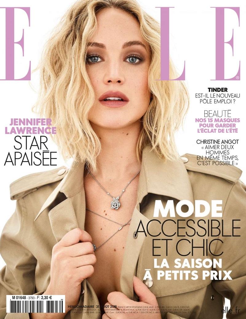 Jennifer Lawrence on ELLE France August 31, 2018 Cover