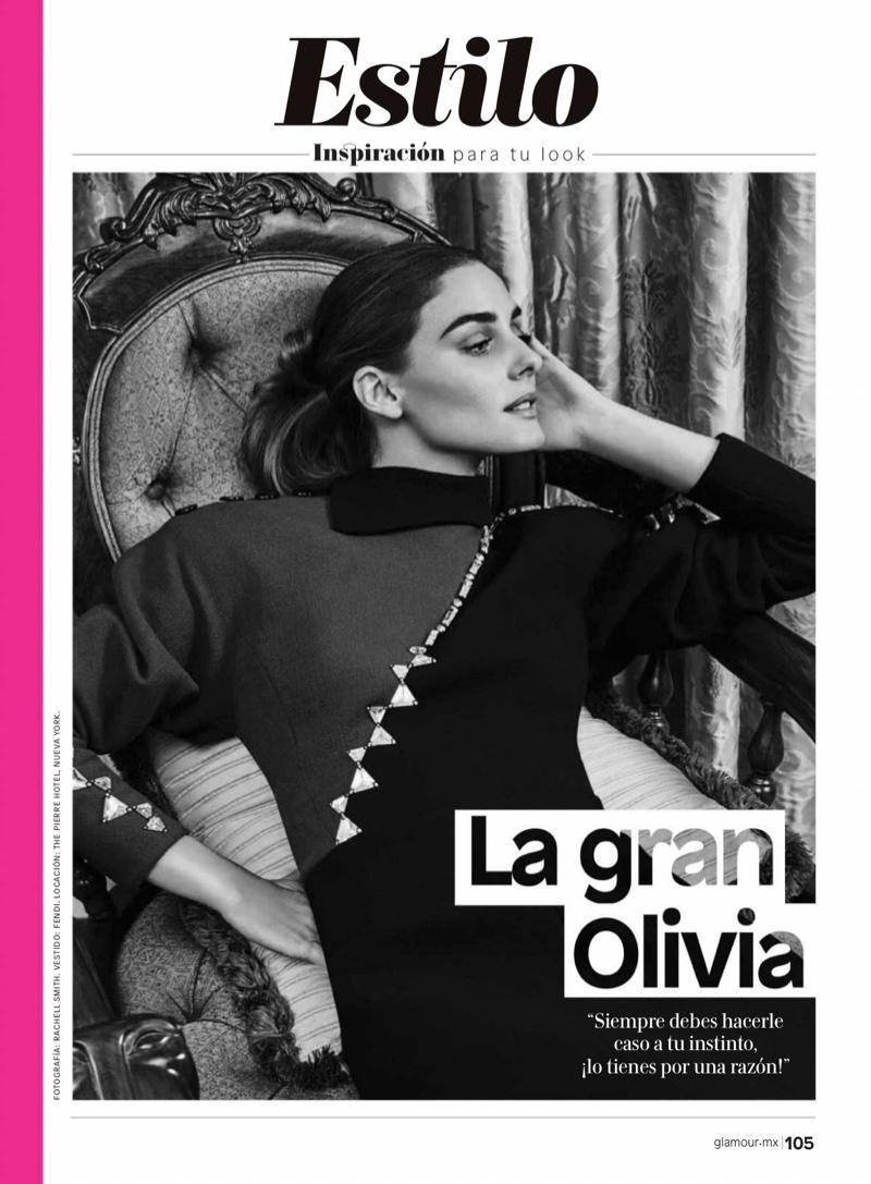 Olivia Palermo poses in Fendi dress