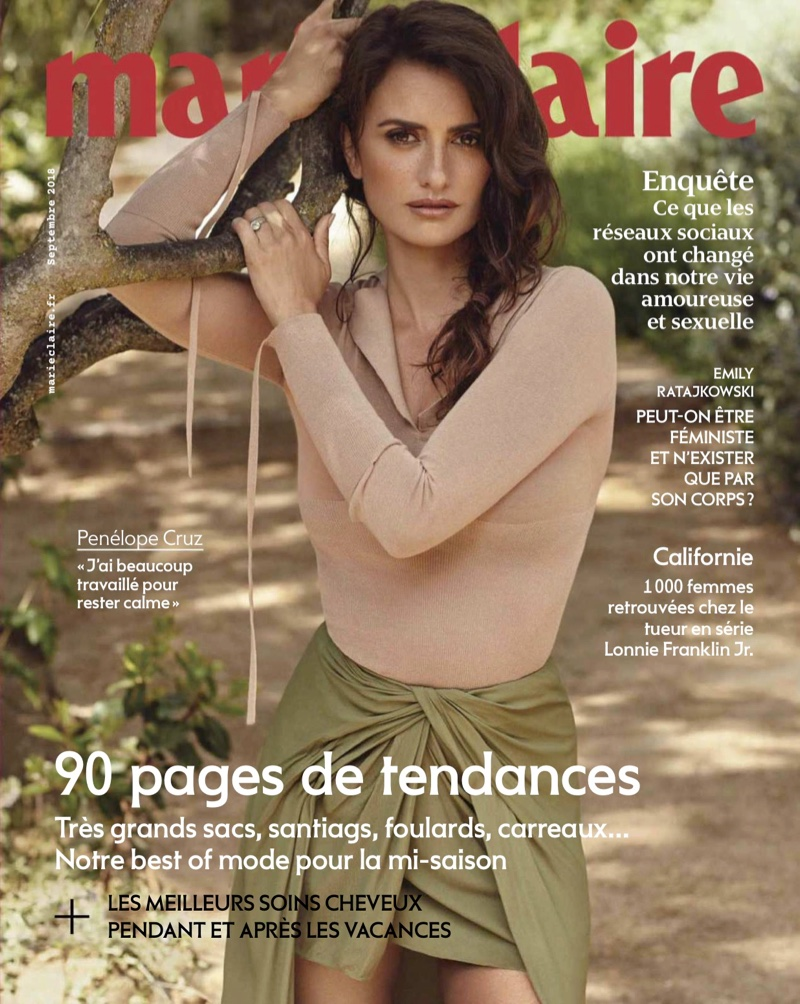 Penelope Cruz on Marie Claire France September 2018 Cover