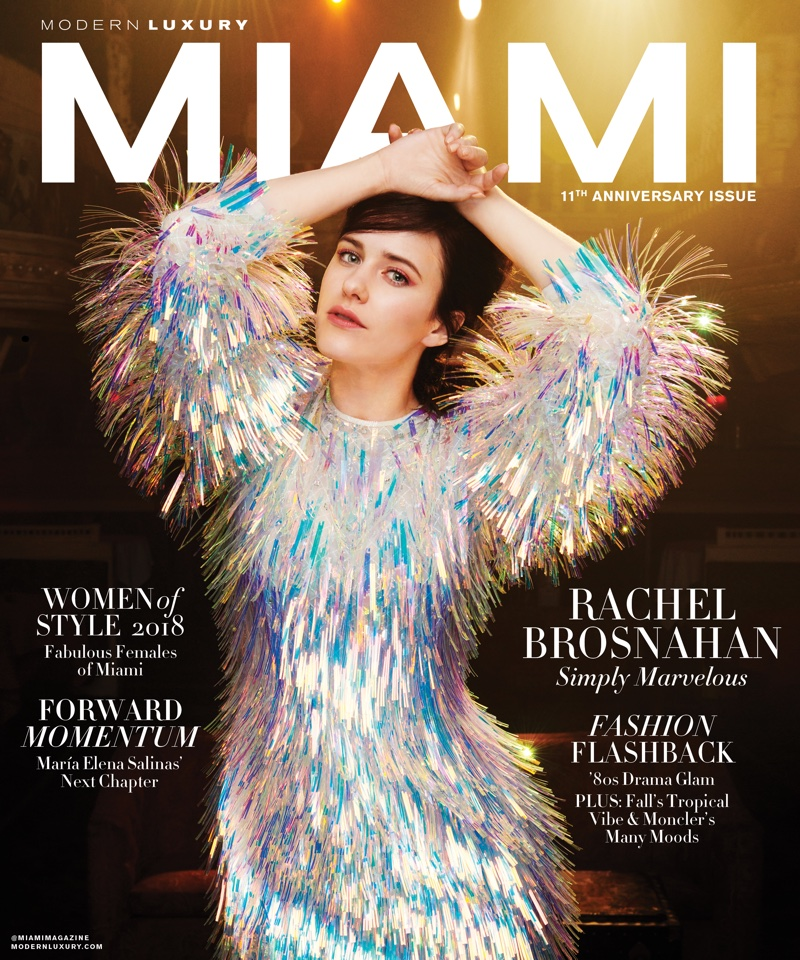 Actress Rachel Brosnahan on Modern Luxury Miami September 2018 Cover