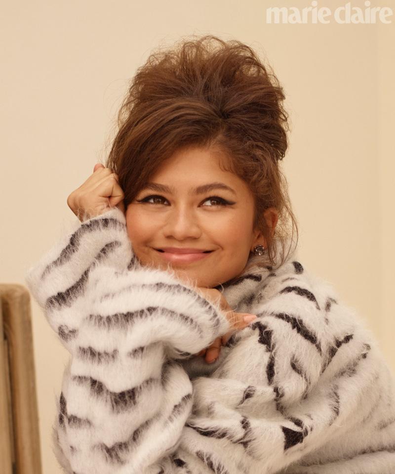 Flashing a smile, Zendaya wears Givenchy top