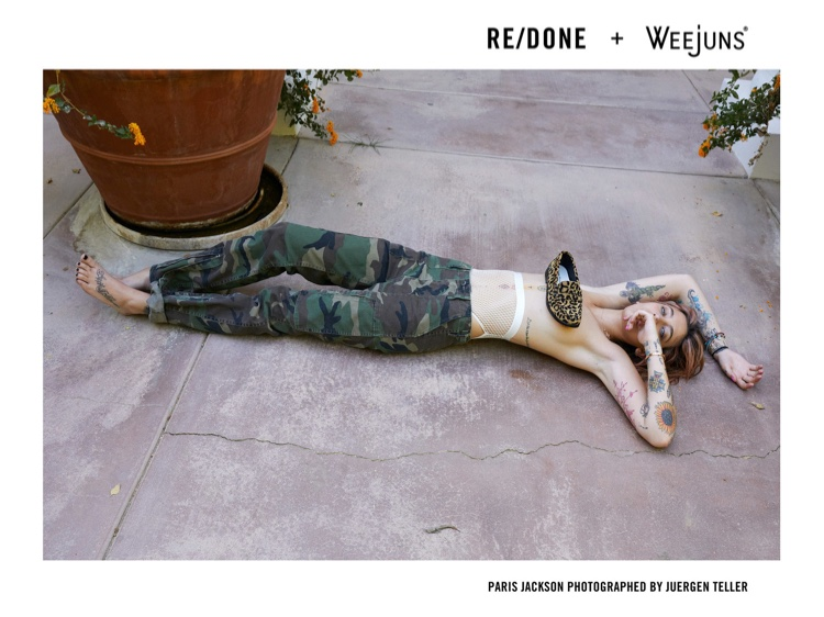 Actress Paris Jackson appears in RE/DONE x Weejuns campaign