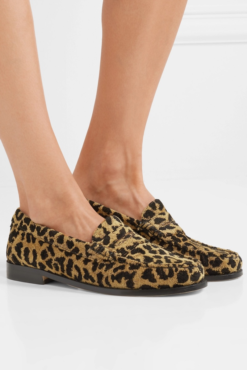 REDONE x Weejuns The Whitney Leopard Print Terry Loafers $345