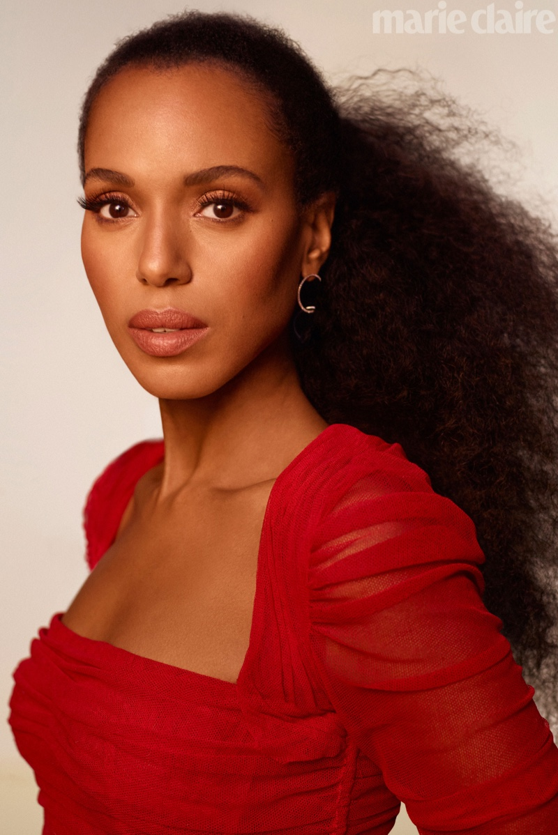 Kerry Washington stuns in a red dress