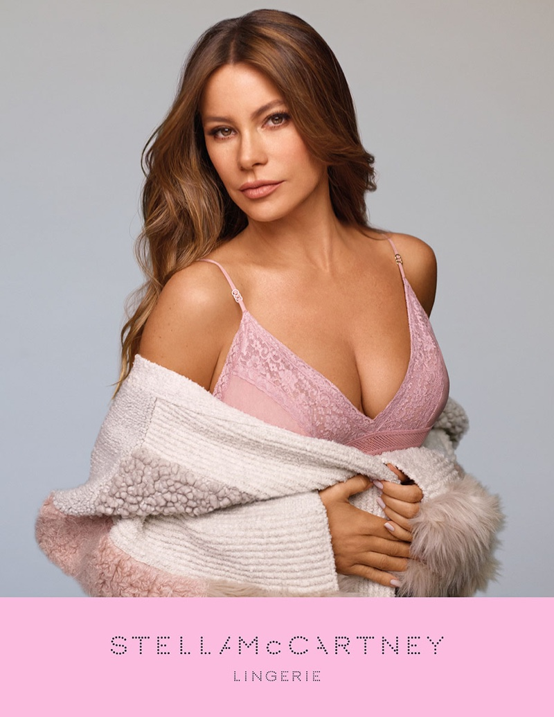 Sofia Vergara stars in Stella McCartney Lingerie campaign for Breast Cancer Awareness. Photo: Stella McCartney
