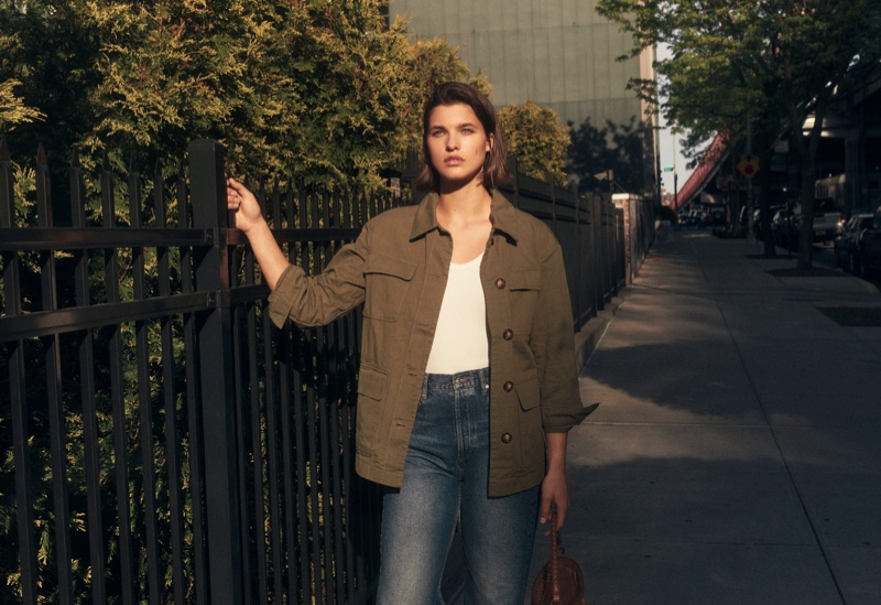 Julia Van Os Keeps It Candid in Mango's New Arrivals