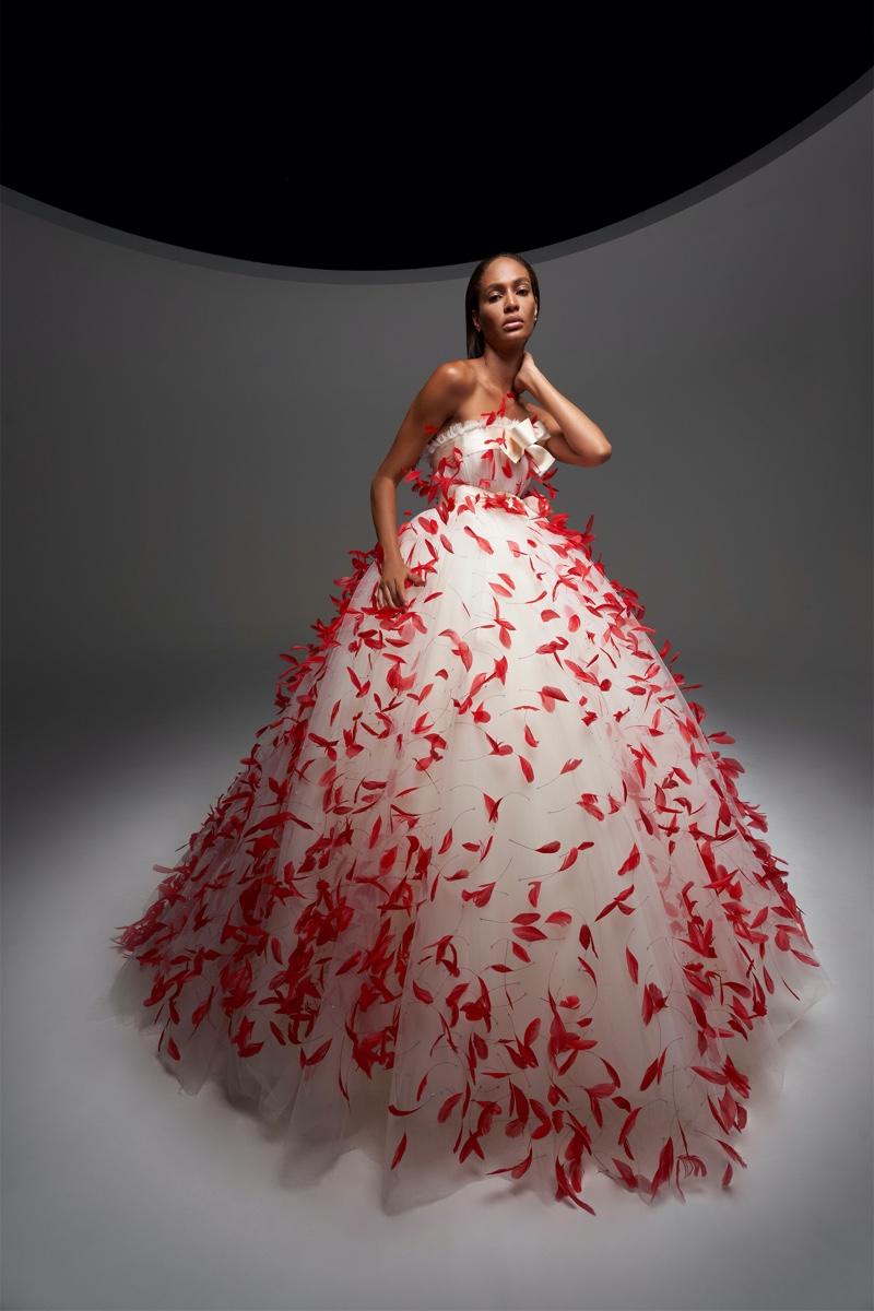 Joan Smalls Enchants in Giambattista Valli Fall 2020 Haute Couture Designs