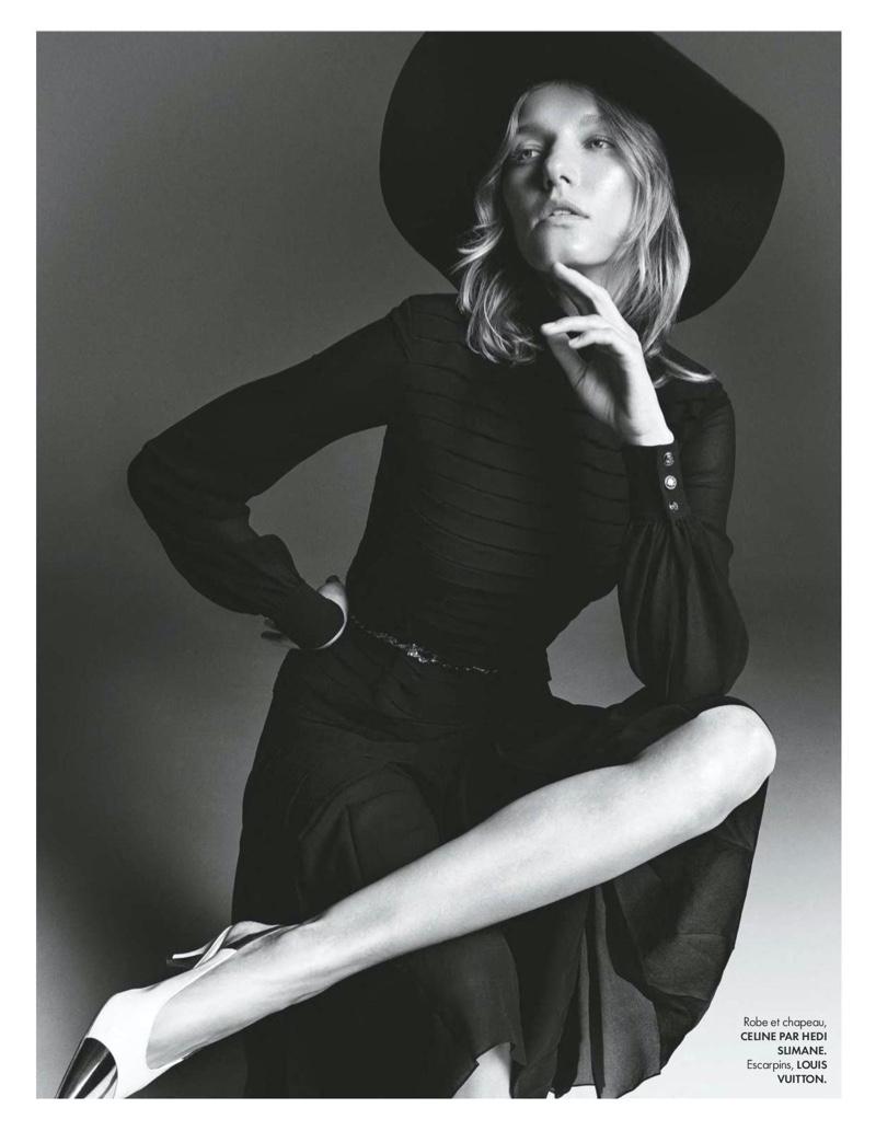 Marique Schimmel Poses in Elegant Looks for ELLE France