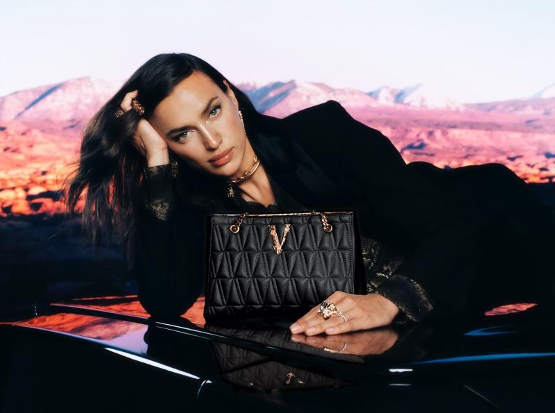 Irina Shayk stars in Versace Holiday 2020 campaign.