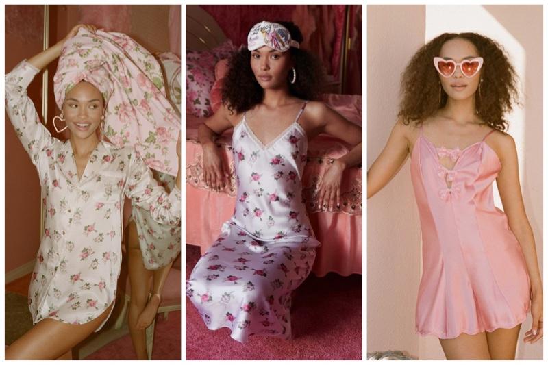 LoveShackFancy x Morgan Lane sleepwear pajama collaboration.