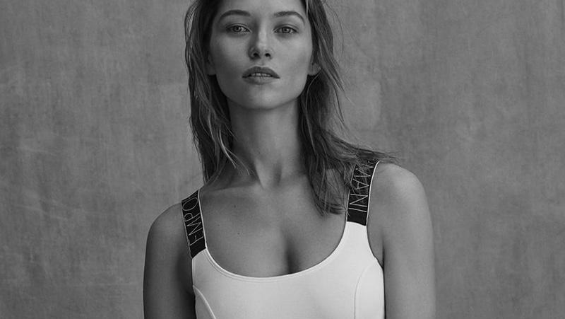 Hana Jirickova Strips Down for Emporio Armani Underwear Spring 2021 Campaign