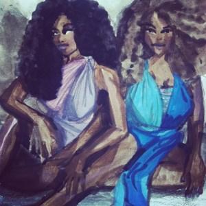 Gouache Illustration, Fashion Illustration of dresses by Nakimuli Inc, Brooklyn, by Laura Volpintesta