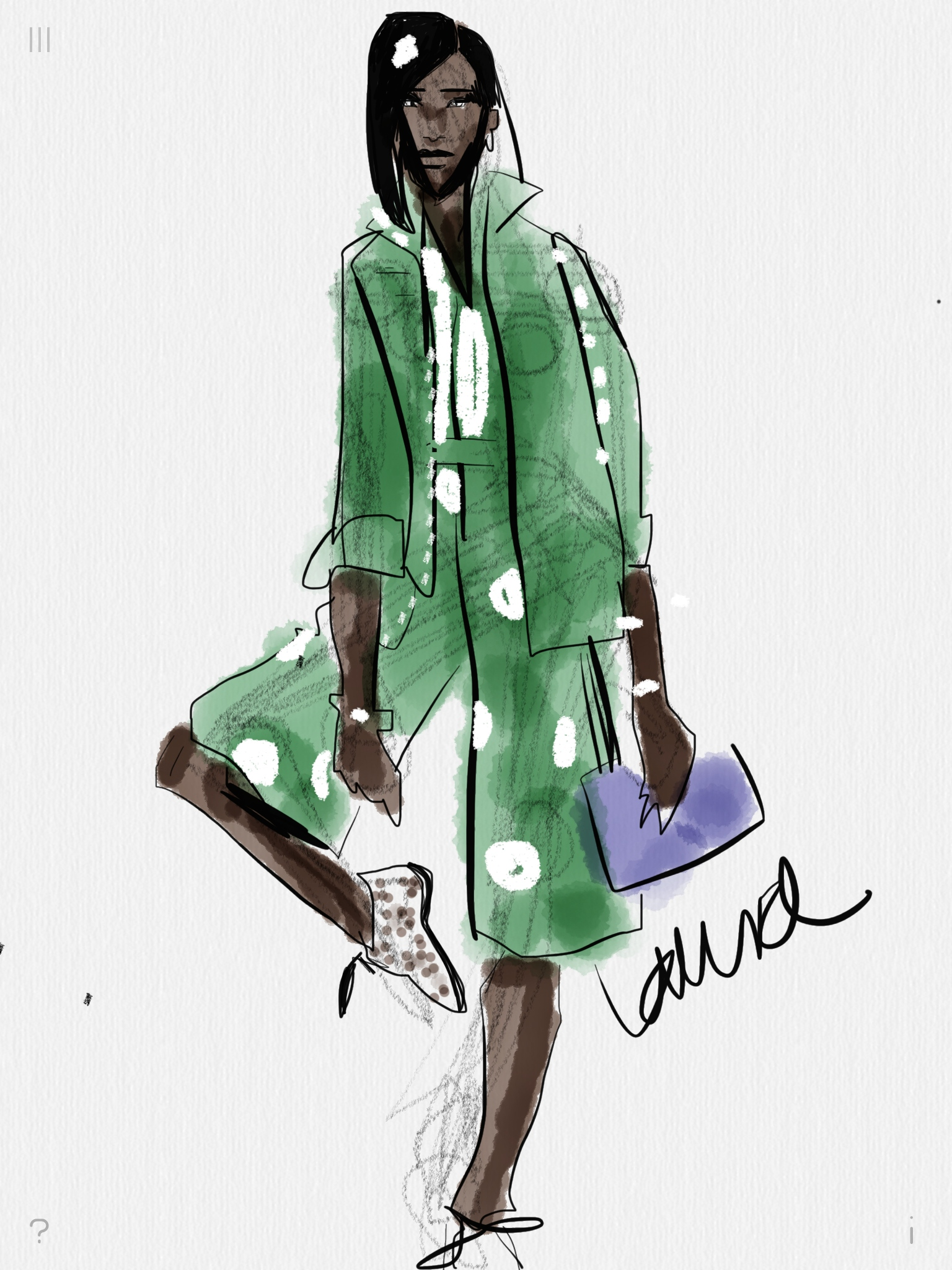 Digital fashion sketching with Tayasui Sketches app on iPad or     Digital Fashion Sketching with Tayasui Sketches