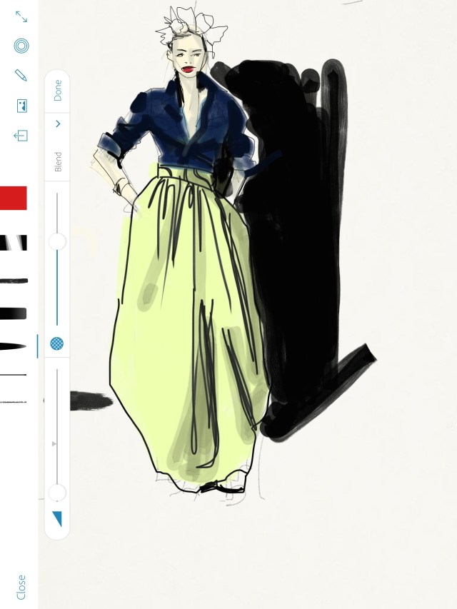 Sketching African Print Fashion skirt, Fashion Illustration Process, Laura Volpintesta