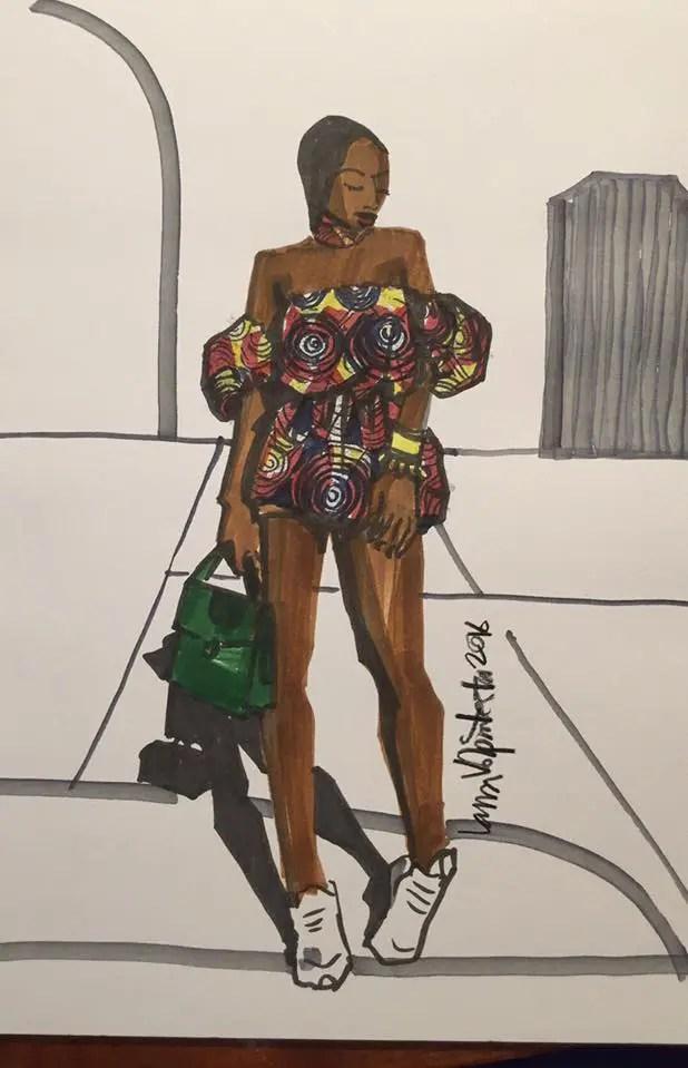 Laura Volpintesta, Fashion Illustrator. African Fashion/ African Print fashion design