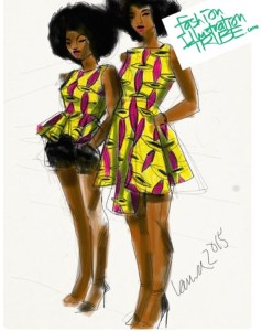 apps for fashion illustration African Print Fashion Illustration by Laura volpintesta