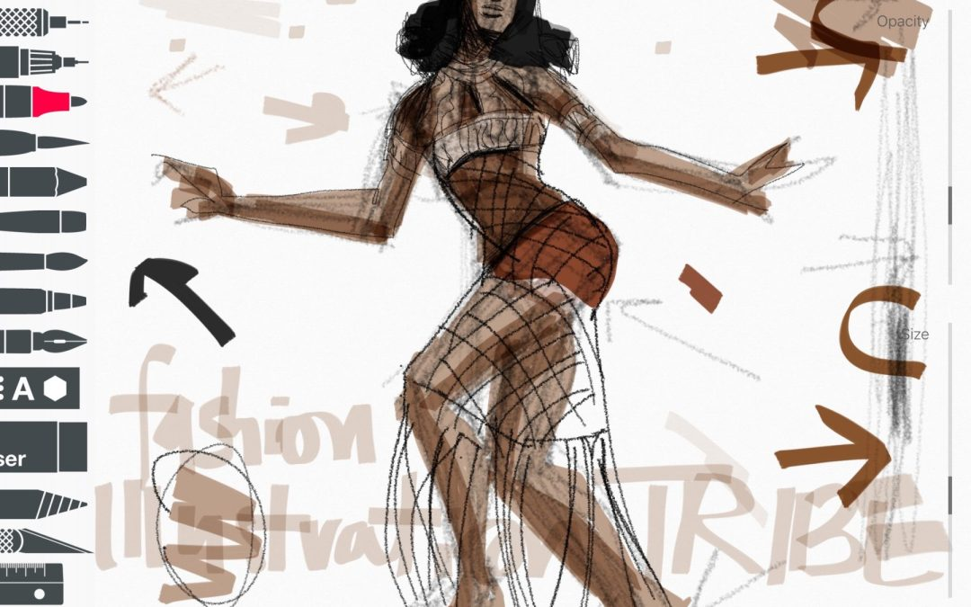 September 2017 All-Size Fashion Model Drawing Mini Course