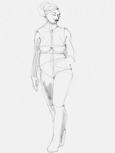 e7a7a502873 plus size fashion illustration workshop- Laura Volpintesta- plus size  fashion croquis