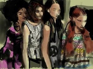 IPad Pro Fashion Illustration by Laura Volpintesta of Fashion Illustration TRIBE