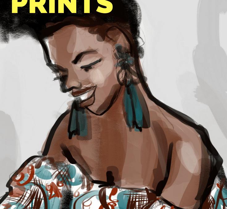 African Prints Fashion Illustration