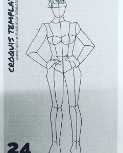 Croquis template for fashion design sketching by Laura Volpintesta, Fashion Illustration Tribe .com