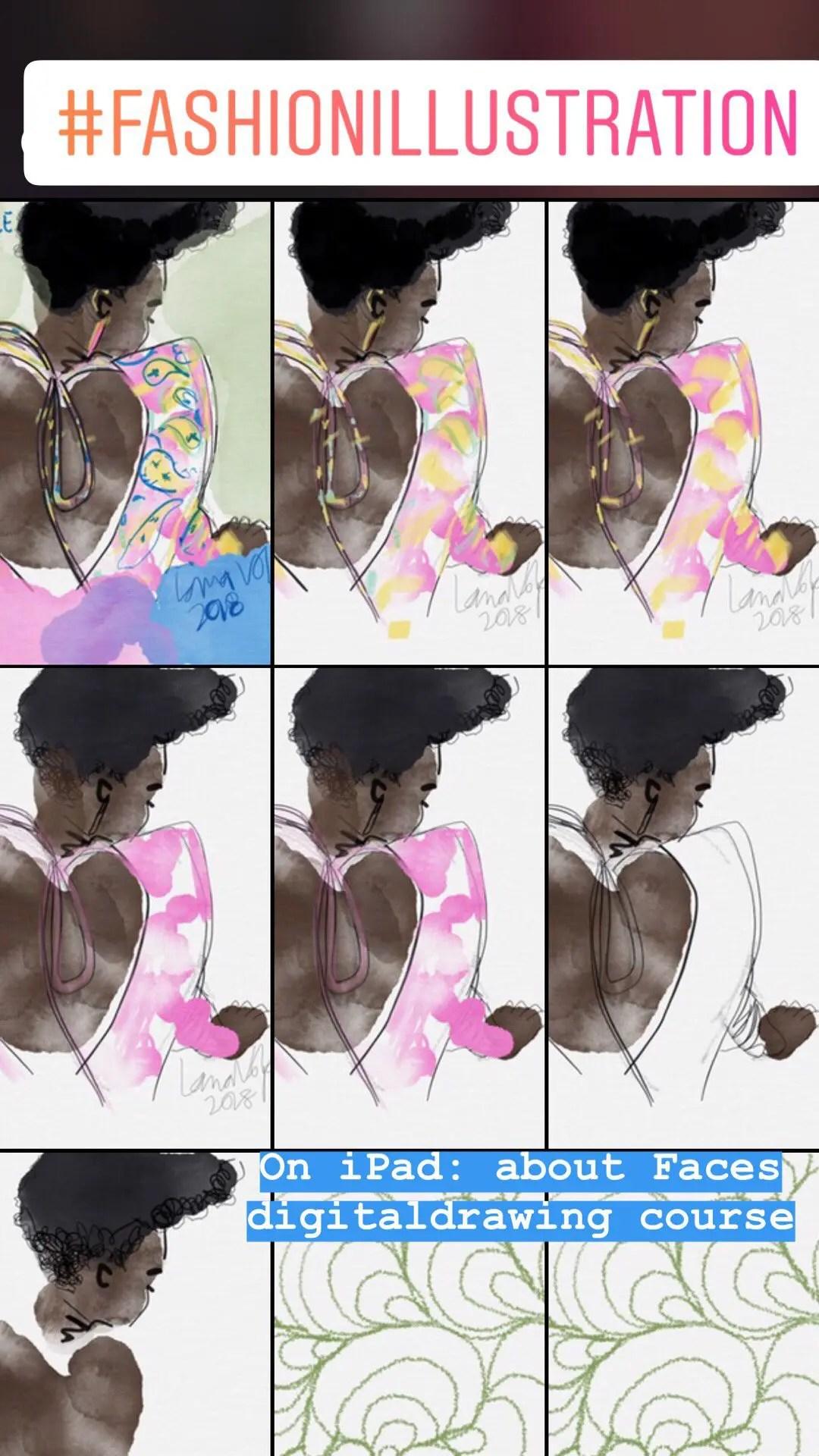 My Favorite Digital Watercolor App For Fashion Art