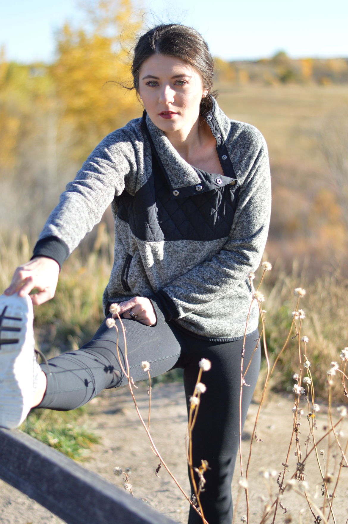 MY FAVORITE WORKOUT ROUTINE by Fashion in Flight abercrombie and fitch favorite sweatshirt nike black leggings nike flyknit sneakers outside colorado springs colorado denver blogger blog ashleigh jean lopes fashion beauty lifestyle blog