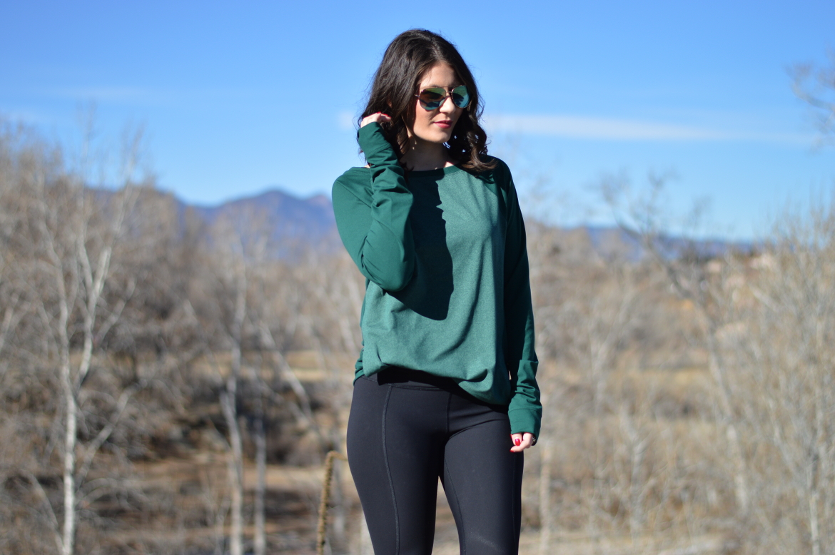HEALTHY EATING TIPS FOR THE HOLIDAYS by Fashion in Flight nike fly knit sneakers lululemon black scallop leggings underarmour green pullover colorado springs blogger fashion beauty lifestyle blog by ashleigh jean lopes workout wednesday fitness post ootd