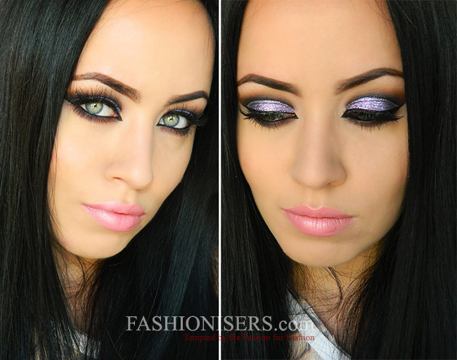 Purple Glitter Party Makeup Tutorial for New Year's Eve