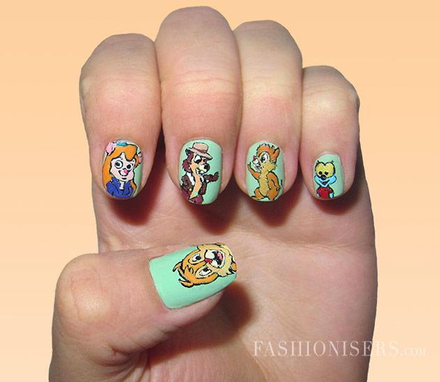 20 Cute Cartoon Inspired Nail Art Designs
