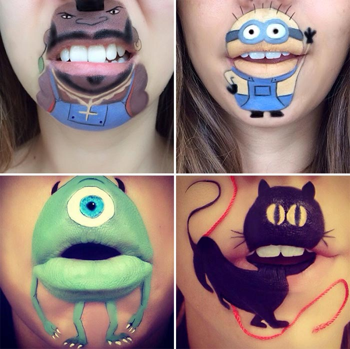 Makeup Artist Laura Jenkinson's Cartoon Lip Makeup